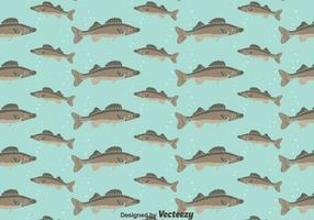 Walleye Seamless Pattern Background
