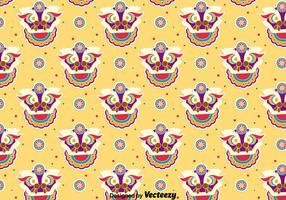 Divertente Lion Dance Seamless Pattern