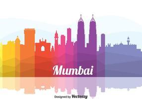 Vecteur de paysage urbain coloré de Mumbai