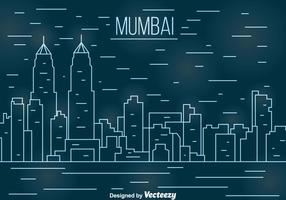 Línea Bombay Vector Paisaje Urbano