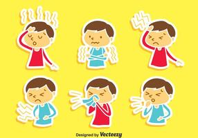 Pain And Affliction Cartoon Children Vector
