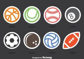 Conjunto de vectores de pegatina de bolas