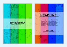 Brochure Business Colorée Vectorisée Gratuite