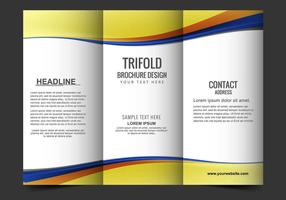 Folleto Tri Vector Gratis