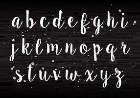 Handwriting Lowercase vector
