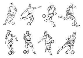 Fotbollsspelare vektorer