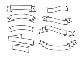 Ribbon Vectors Set