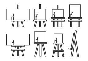 Canvas med stativ vektor