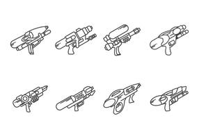Water Gun Vectors