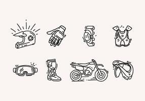 Hand Drawn Dirt Bike Icons