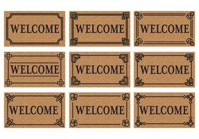Gratis Welcome Door Mat Vector