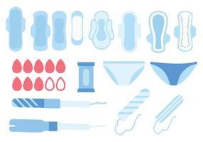 Vettore di icone di igiene femminile gratis