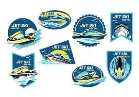 Vetor de jet ski