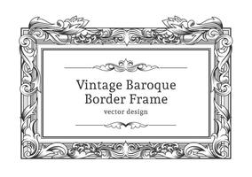Gratis Vector Barok Border Frame