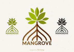 Conception libre de logo de vecteur de mangrove