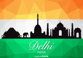 Vector libre Delhi silueta del horizonte
