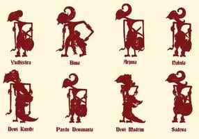 Javanese Puppet Culture vector