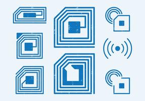 Símbolo de identificação por radiofrequência