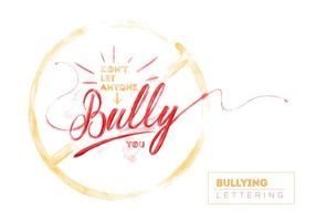 Free Bullying Watercolor Vector