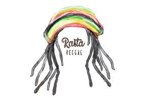 Free Dreads Hat Watercolor Vector
