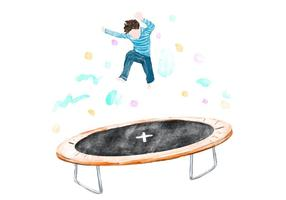 Free Trampoline Watercolor Vector