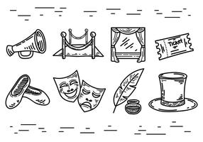 Libre Teatro Icons Vector