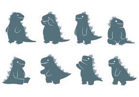 Free Godzilla Icons Vector