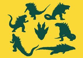 Kostenlose Godzilla Icons Vektor