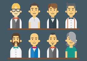 Kostenlose Barman Icons Vektor