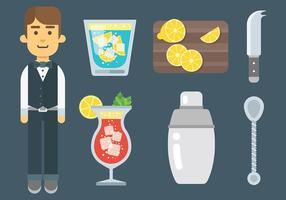Barman Icons Vector gratuit