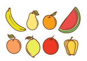 Fruta libre del imán del refrigerador