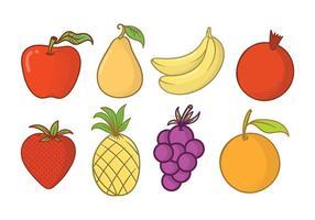 Vecteur d'aimant de réfrigérateur à fruits gratuits