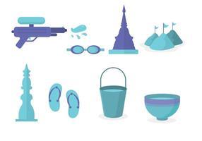 Vector libre del festival de Songkran