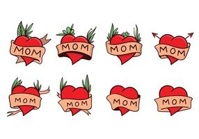 Gratis Mom Tattoo Vector