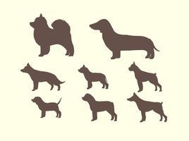 Silueta libre del vector del perro