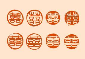 Libere el vector chino del símbolo de la boda