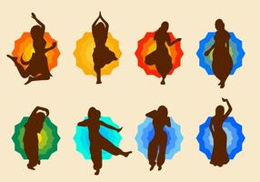 Libre Bollywood Danza Vector