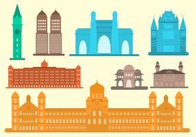 Free Flat Mumbai Wahrzeichen Vektor