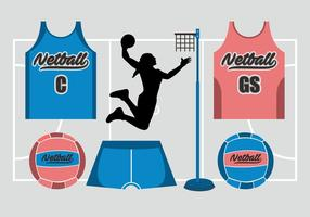 Ensemble de vecteur Netball
