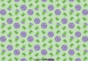 Thistle Flowers Ornament Seamless Pattern