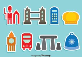 United Kingdom Element Colorful Icons Vector
