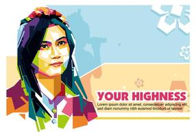 Din höghet i Popart Porträtt - WPAP
