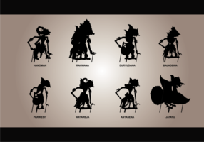 Wayang siluetas Vector