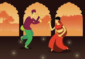Free Garba Illustration vector
