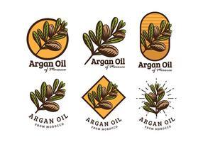 Aceite de Argan Logo Vector Libre