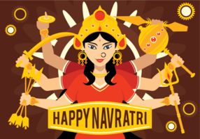 Glad Navratri Illustration