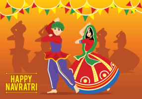 Navratri Vector Illustration