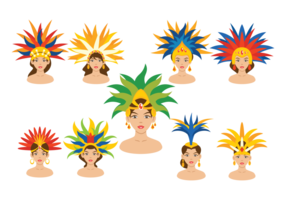 Brazilian Samba Dancer Vectors