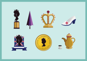 Queen Elizabeth icon vector