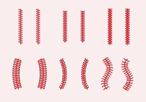 Baseball Laces Vektor Sets